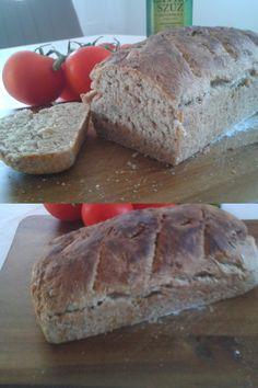 Finom, egyszerű kenyér recept napraforgómaggal, vagy bármilyen magvakkal, teljes kiőrlésű liszttel. Bread, Food, Meal, Brot, Eten, Breads, Meals, Bakeries