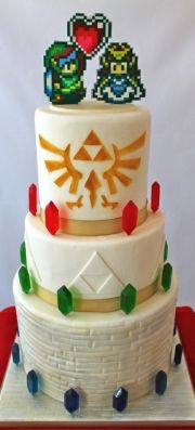 Legend of Zelda wedding cake