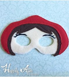 Stitch out this easy Little Red Riding Hood Mask ITH Embroidery Design