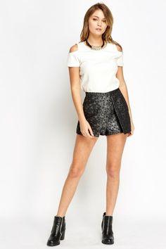Pleated High Shine Shorts