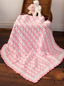 Free Crochet Baby Blanket Pattern. This would also be pretty in blue and white.