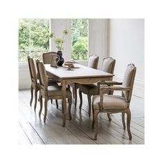 Avignon Wooden Dining Table - 6 Seater
