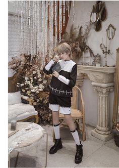 CastleToo -The Friar- Ouji Lolita Set(Jackt, Pants and Cape with Cross Strap) Mode Lolita, Lolita Goth, Lolita Dress, Cute Fashion, Boy Fashion, Fashion Outfits, Lolita Cosplay, Fashion Design Sketches, Japanese Street Fashion