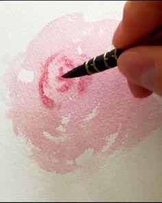 Watercolor Paintings For Beginners, Watercolor Art Lessons, Art Watercolour, Watercolor Techniques, Watercolors, Watercolor Flowers Tutorial, Diy Canvas Art, Pastel Art, Brand Ambassador