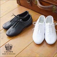 CROWN[クラウン]CROWNJAZZ[レースアップダンスシューズ]白靴/ホワイト/レースアップシューズLADY'S【あす楽対応】