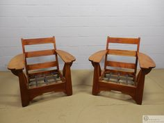 Pair Cushman Colonial Club Chairs with Paddle Arms picclick.com