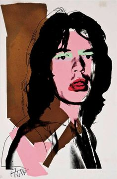 Andy Warhol - Jagger II.143 | From a unique collection of prints and multiples at http://www.1stdibs.com/art/prints-works-on-paper/