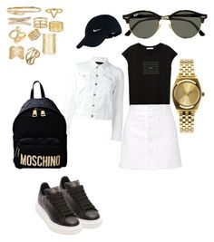 """""""Damn"""" by madisonkiss on Polyvore featuring MANGO, Steve J & Yoni P, Dsquared2, Alexander McQueen, Moschino, Nixon, Ray-Ban, NIKE, Maison Margiela and Michael Kors"""