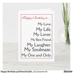 boyfriend,wife,husband Card created by Linsartwork. Romantic Birthday Cards, Birthday Gift Cards, Birthday Greetings, Birthday Party Invitations, Invites, Happy Birthday Girlfriend, Girlfriend Birthday, Husband Birthday, Popular Birthdays