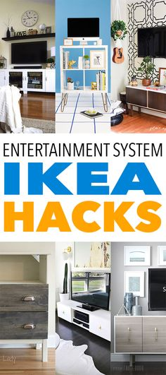 """We know how much you love a great IKEA Hack…so we are continuing to find some that we know you will enjoy! As you know putting """"collections"""" together is our thing and today's collection is about Entertainment System IKEA Hacks //Cedenza's, TV Stands. You won't believe how incredible these are…they look like they marched out …"""