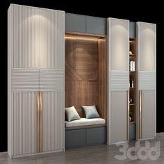 Wardrobe Door Designs, Wardrobe Design Bedroom, Bedroom Furniture Design, Wardrobe Interior Design, Luxury Wardrobe, Hallway Furniture, Home Hall Design, Home Interior Design, Bedroom Cupboard Designs