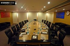 Give your meetings a head start with our spacious #Conference rooms and let our top-notch facilities impress your business clients. #SaharaStar #Meetings