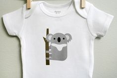 Baby boy clothes, koala. Long or short sleeve. Your choice of size. by squarepaisleydesign on Etsy https://www.etsy.com/listing/120610396/baby-boy-clothes-koala-long-or-short