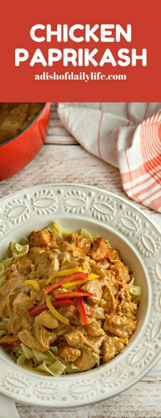 Chicken Paprikash...this creamy classic Hungarian stew recipe is both easy and…