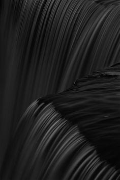 ☾ Midnight Dreams ☽  dreamy & dramatic black and white photography - Jägala Waterfall - Estonia