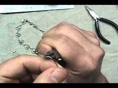 How to Make A Beautiful Silver Wire Heart Link Jewelry Necklace