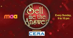 """This #Sunday captivate yourself with the stimulating show - """"Sell Me The Answer"""" powered by #CERA.  #GameShow #ReflectsMyStyle #RealityShow #IndianTelevision #Entertainment #SellMeTheAnswer"""