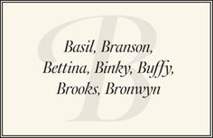 Preppy Names - Preppy Baby Names - Town & Country