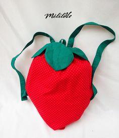 Sac à dos fraise pour enfant  de la boutique MeliloveCreations sur Etsy