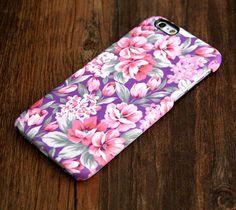 Violet Pink Floral Pattern iPhone 6 Plus/6/5S/5C/5/4S/4 Protective Case #417