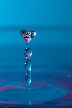 Water drop heart.