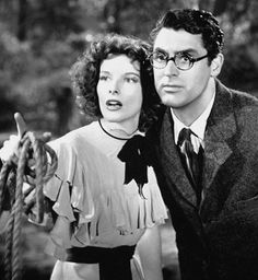 Katharine Hepburn and Cary Grant, Bringing Up Baby  1938   by Howard Hawks, starring