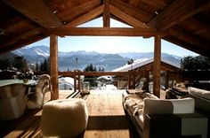 Chalet Blanche Verbier, Switzerland Chalet Chic, Hotel Chalet, Chalet Style, Chalet Design, House Design, Cabin Homes, Log Homes, Chalet Interior, Mountain Homes