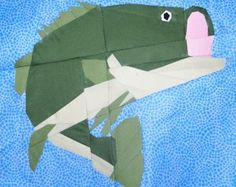 Bass Fish Paper Piecing Quilt Pattern | YouCanMakeThis.com