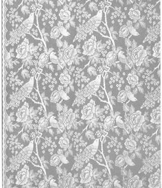 Thibaut Lace curtain panels - Songbirds by Anna French Lace Curtain Panels, Lace Curtains, Drapery, Anna French Wallpaper, Bird Netting, Woodland Fabric, Hand Painted Walls, Victorian Lace, House