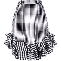 House Of Holland gingham midi skirt (715 BRL) ❤ liked on Polyvore featuring skirts, black, house of holland, midi skirt, gingham midi skirt, gingham skirt and mid calf skirts