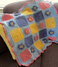 crochet flower afghan pattern
