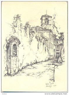 Anton Pieck - toren en kapel te Brissago