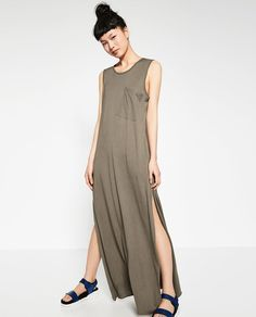 Image 3 of DRESS WITH SLIT from Zara