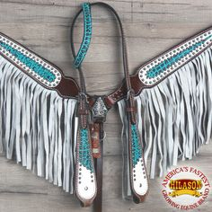 HILASON Western Leather Horse Headstall Breast Collar Turquoise White Fringes for sale online Bling Horse Tack, Horse Bridle, Horse Saddles, My Horse, Western Bridles, Western Horse Tack, Barrel Saddle, Barrel Racing Tack, Headstalls For Horses