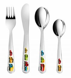 Petit Jour Paris 3-Piece Cutlery Set Barbapapa Perfectly Suitable for The Small Hands!