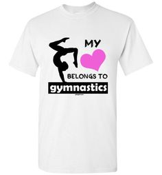 Golly Girls: My Heart Belongs to Gymnastics Gildan Short-Sleeve T-Shirt (Youth & Adult Sizes)