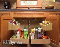 How to Build Kitchen Sink Storage Trays - Mr. Handy needs to build me some of | http://kitchendesignsaz.blogspot.com