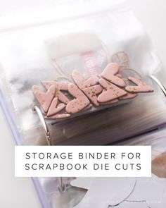 Perfect system for storing your scrapbooking die cuts. Easily fine what you need.