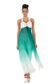 #glamour #fashion #springsummer 2014 #woman #girl #cocktaildress  #partydress #dress #longdress #abitoelegante #green #white