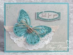 Watercolor Wings and Awesomely Artistic stamp sets create a lovely handmade all-occasions card