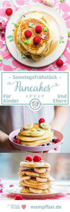 Super fluffige Pancakes, die eure Kinder lieben werden! Perfekt für ein schönes Frühstück mit der ganzen Familie. Klick hier für das leckere Rezept und viele weitere schöne Ideen für deine Kinder.