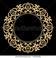 Decorative line art frame for design template. Elegant vector element for design in Eastern style, place for text. Lace illustration for invitations and greeting cards - Best Daddies Stencil Patterns, Pattern Art, Pattern Design, Motif Vector, Motif Arabesque, Stencils, Doodle Frames, Decorative Lines, Turkish Art
