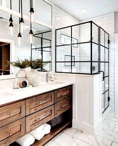 Bathroom Renos, White Bathroom, Bathroom Ideas, Bathroom Modern, Bathroom Organization, Remodel Bathroom, Bathroom Designs, Budget Bathroom, Small Bathrooms