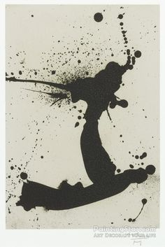 Untitled 1 Artwork by Robert Motherwell Hand-painted and Art Prints on canvas for sale,you can custom the size and frame