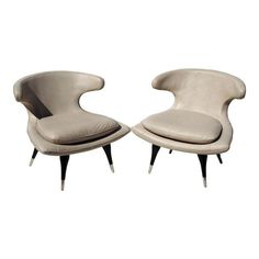 Image of Karpen Style Sculptural Horn Chairs - A Pair