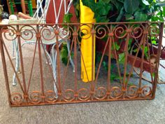 This antique wrought iron fence piece is in Georgia's inventory. It's perfect for a headboard, wall hanging or used in a coffee table. If you have to have it, let us know!
