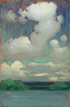 Lake Balaton with Wreathing Clouds, ca 1905, Vaszary János. Hungarian (1867 - 1939)  via (livinginhisgratefulness)