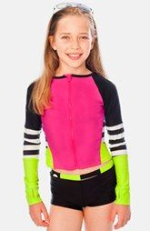 Limeapple 'Sanjuan' Long Sleeve Rashguard Two-Piece Swimsuit (Little Girls & Big Girls)