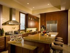 transitional kitchens with white cabinets   ... Kitchen: Transitional Style Kitchen Cabinet Islands Bentwood Cherry