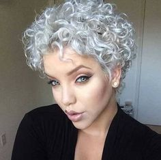 The best collection of Great Curly Pixie Hair, Pixie cuts, Latest and short curly pixie haircuts, Curly pixie cuts pixie hair Grey Curly Hair, Short Grey Hair, Curly Hair Cuts, Short Hair Cuts, Curly Hair Styles, Natural Hair Styles, Pixie Cuts, Permed Short Hair, Fine Curly Hair